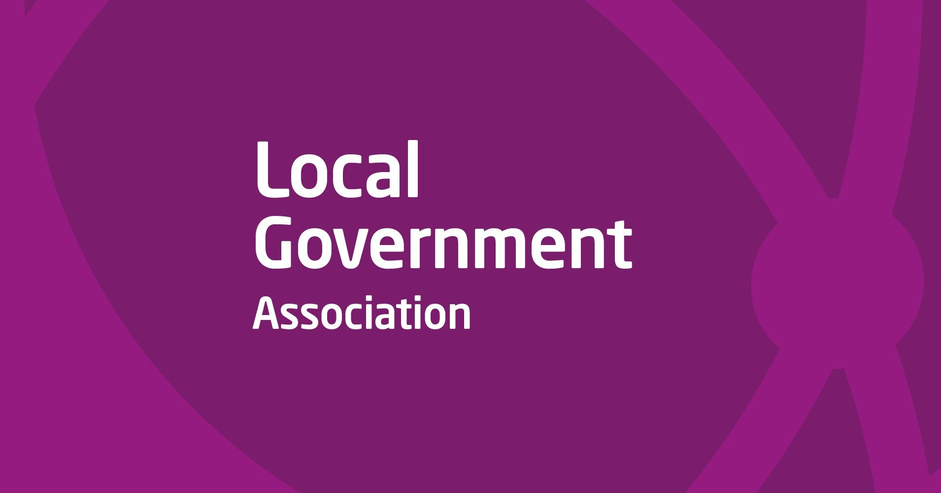 """White writing """"Local Government Association"""" on purple background"""
